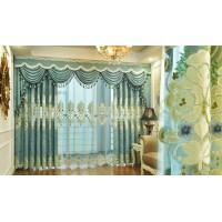 新款欧式大气客厅窗帘双层豪华卧室定制纱帘