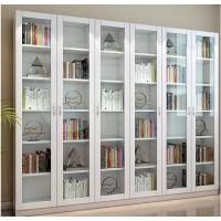 简约现代玻璃门书柜防尘书橱
