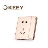 多孔插座86型暗装五孔USB二三插一开带墙壁插座 一开双控五孔插座