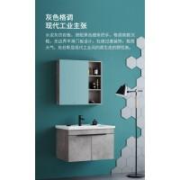 惠达卫浴现代仿岩板浴室柜挂墙式洗手洗脸台盆柜组合