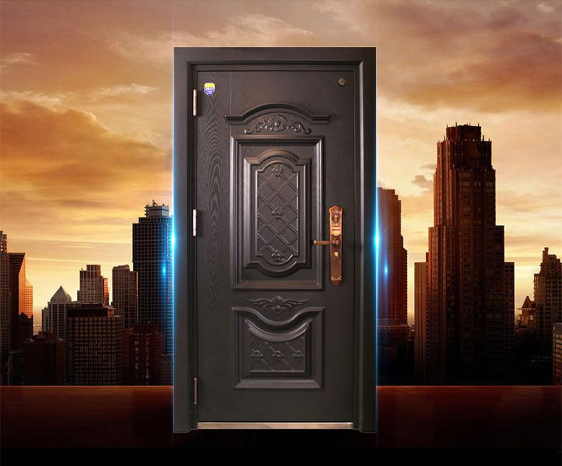 美心家美 铸家盛美甲级安全门钢质防盗门霸王锁芯入户门2204