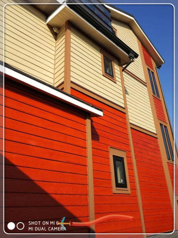 别墅外墙挂板 外墙木纹挂板 水泥外墙木纹板 进口披叠木纹板