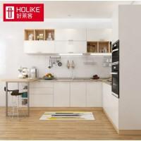 好莱客 定制橱柜 现代简约L型厨柜石英石台面整体厨房柜家具定做 预付订金