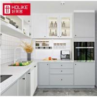好莱客 定制橱柜 现代简约整体厨房L型厨柜 地柜吊柜石英石台面 预付订金